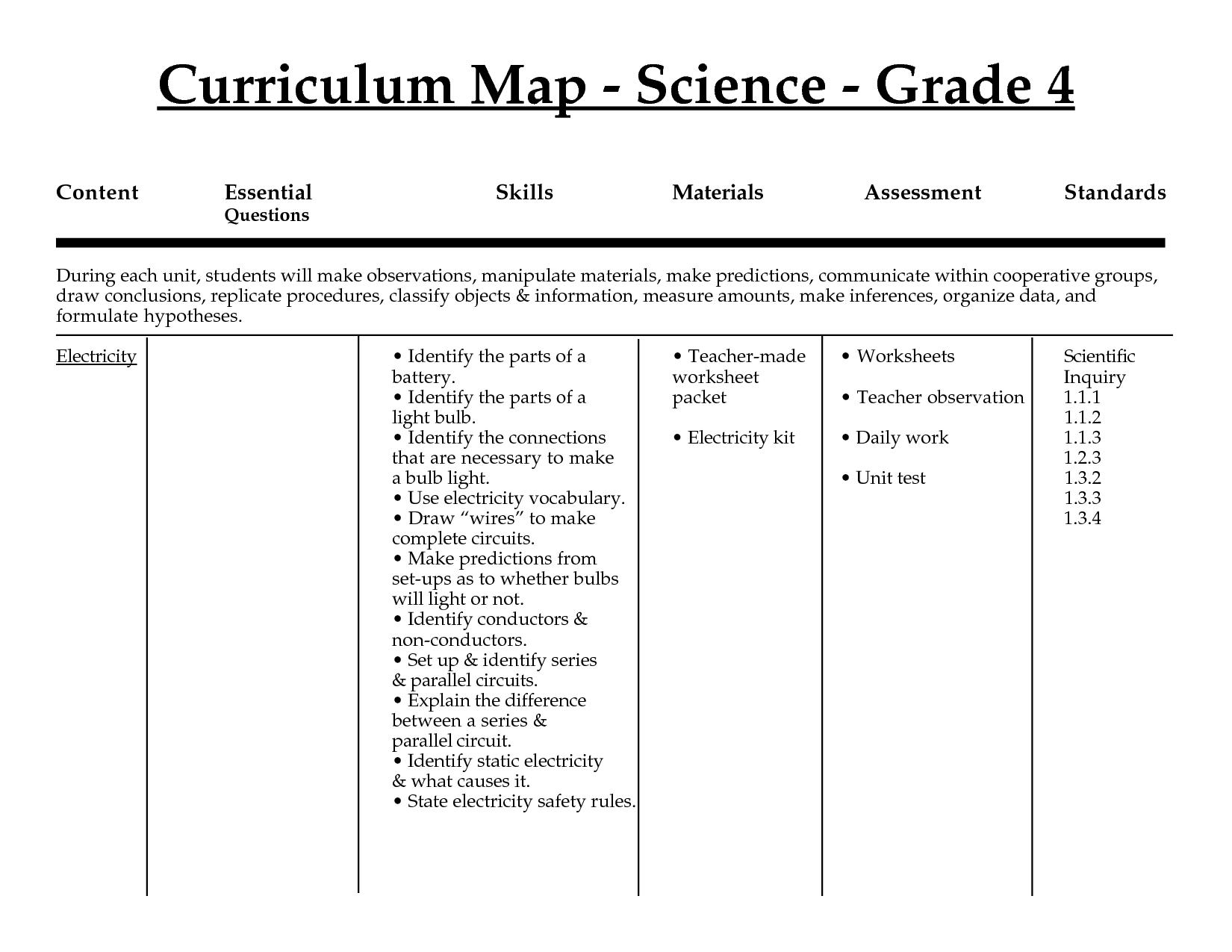Grade 4 Science Worksheets Free Printable Fresh Worksheets For