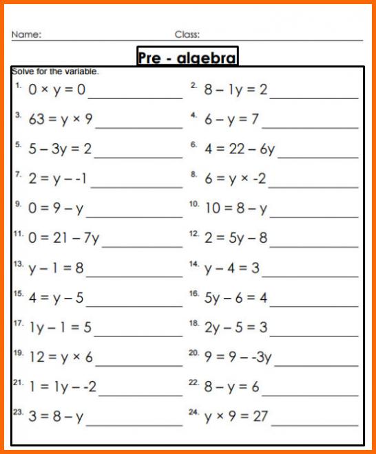 Grade 8 And 9 Math Worksheets 408851