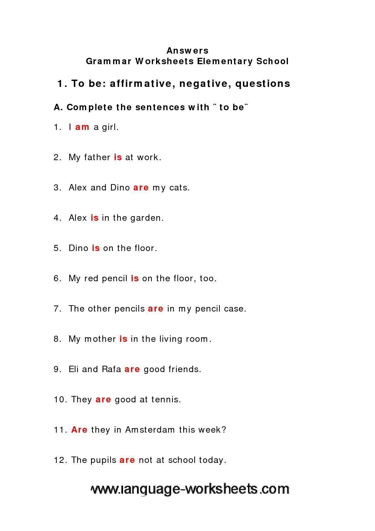 Grammar Worksheets Middle School 648414