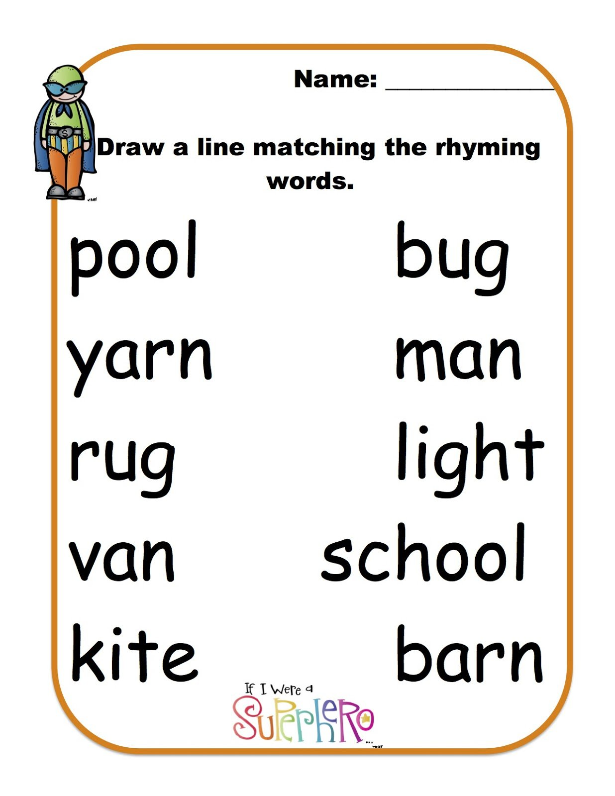 Halloween Rhyming Worksheets The Best Worksheets Image Collection