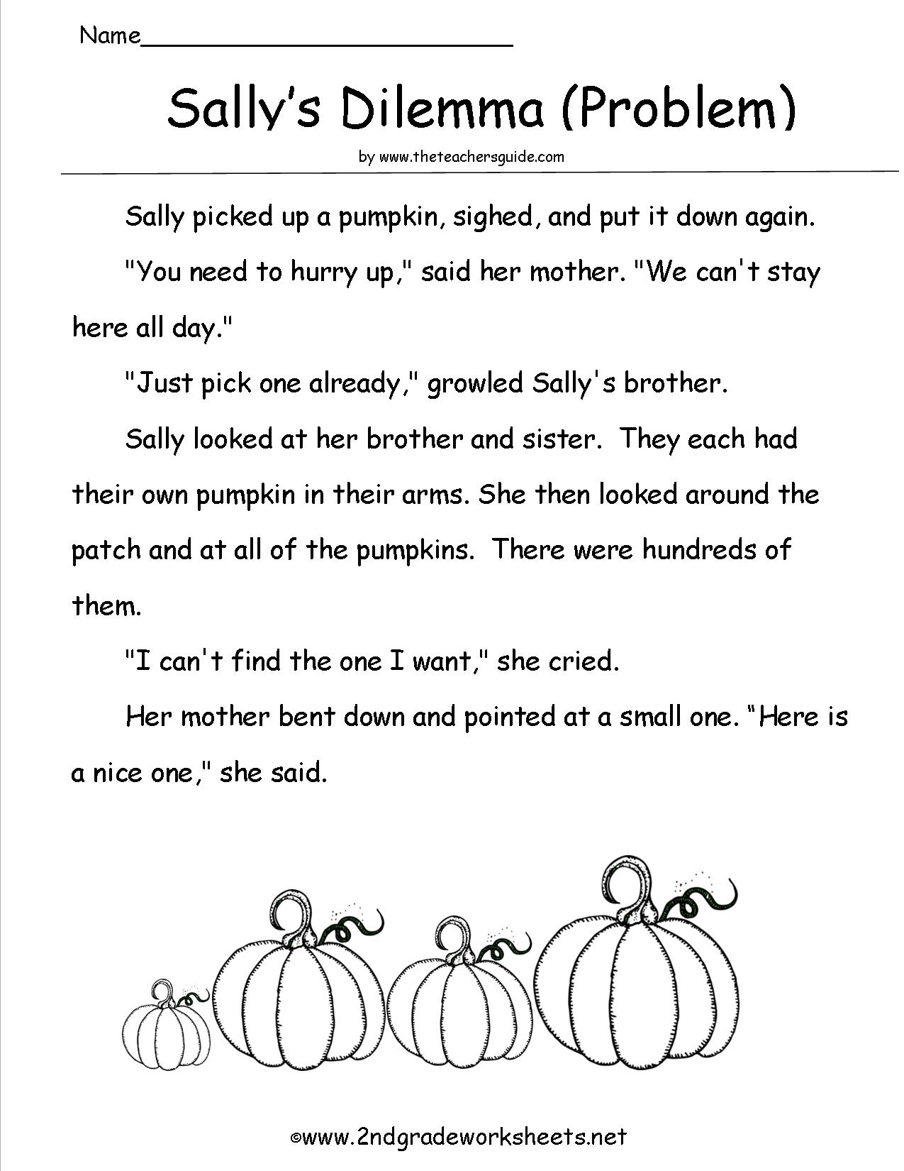 Halloween Worksheets For 2nd Grade Reading 882318