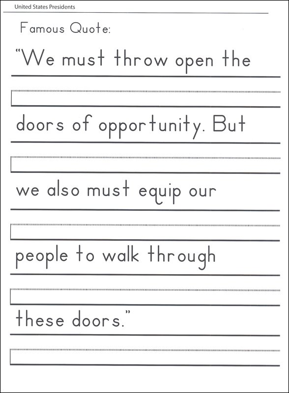 Hand Writing Practice Sheets