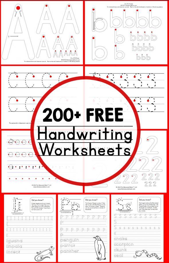 Handwriting Activity Worksheets 681467