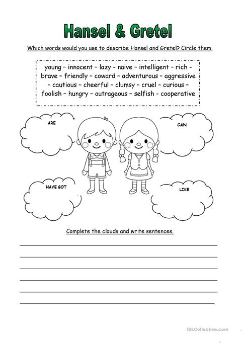 Hansel & Gretel Worksheet