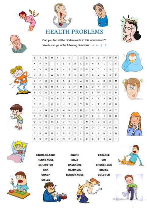 Health Problems Worksheet