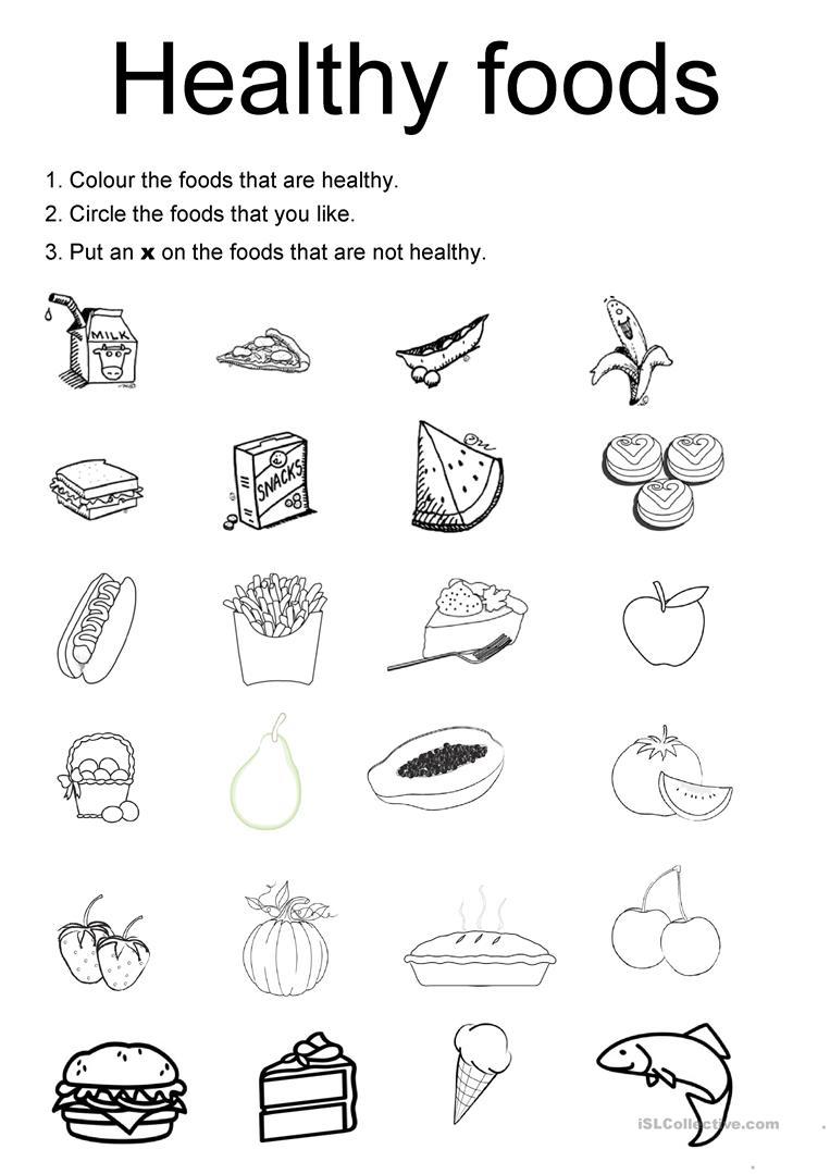 Healthy And Unhealthy Food Worksheet For Preschool 241342