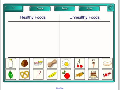 Healthy Food And Junk Food Worksheets