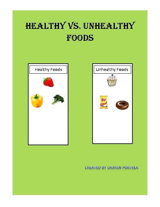 Healthy Vs  Unhealthy Foods