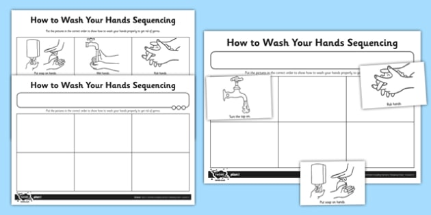 How To Wash Your Hands Worksheet   Activity Sheet