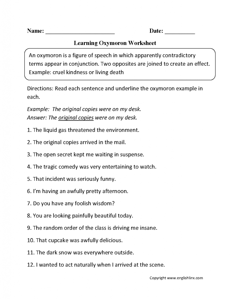 Hyperbole Worksheets 5th Grade The Best Worksheets Image