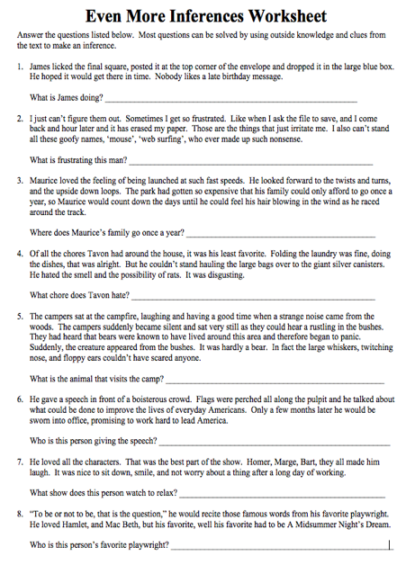 Inference Worksheets For High School The Best Worksheets Image
