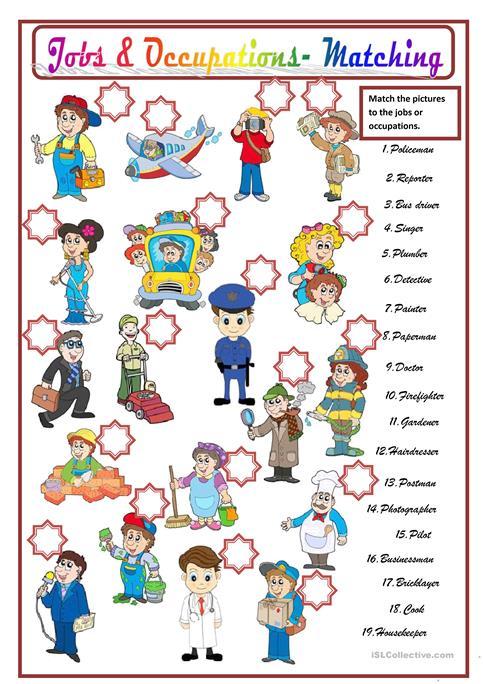 Jobs & Occupations Worksheet