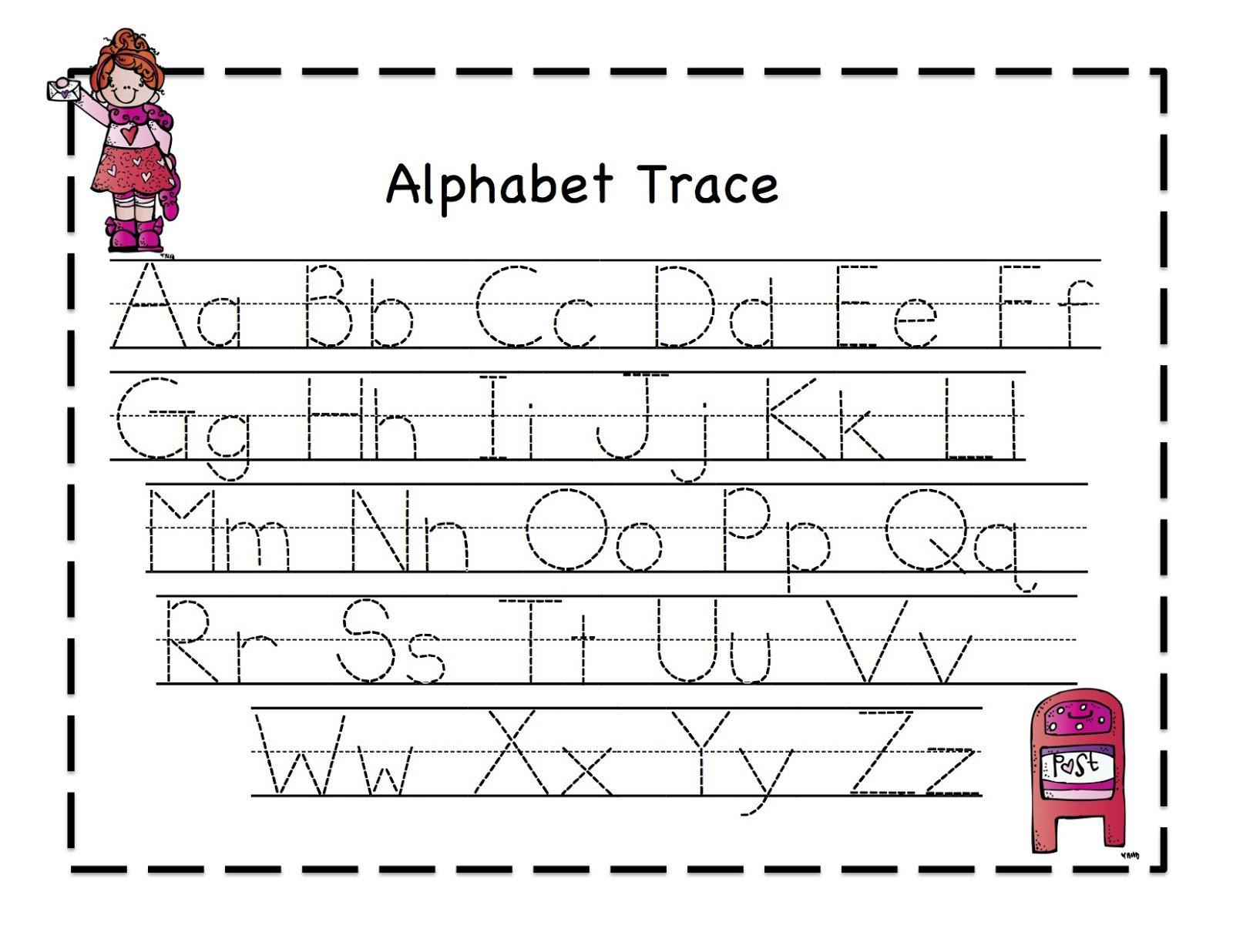 Kindergarten Alphabet Worksheets Free Printable Preschool Pre K