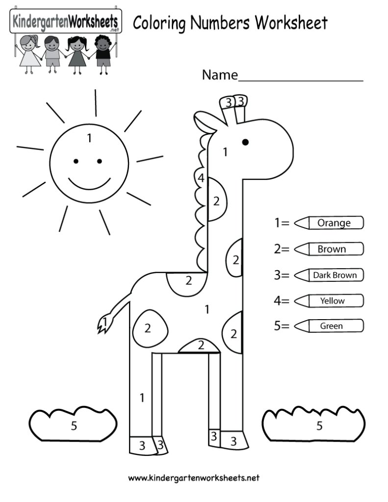 Kindergarten Colors Worksheets Pdf 216010