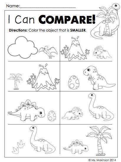 Kindergarten Dinosaur Math Worksheets 781318