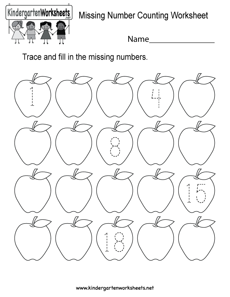 Kindergarten Math Worksheets Missing Numbers Fresh Missing Number