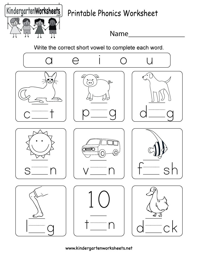 Kindergarten Phonics Practice Worksheets 500935