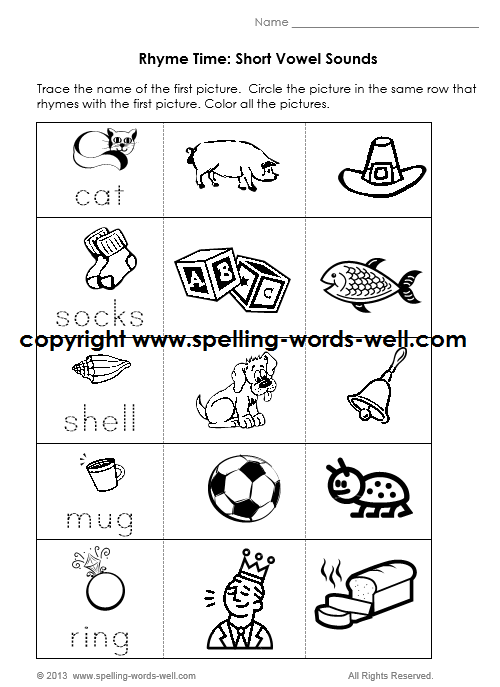 Kindergarten Phonics Practice Worksheets 500938