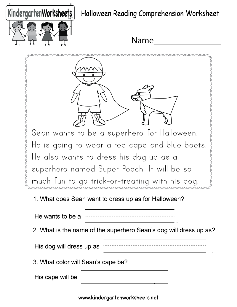 Kindergarten Reading Comprehension Worksheets Printable 453140