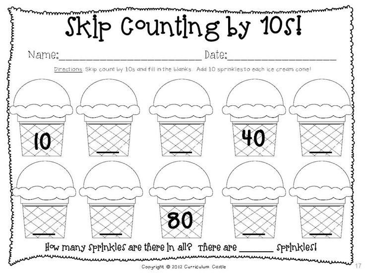 Kindergarten Skip Counting By 10 Worksheets 1018614