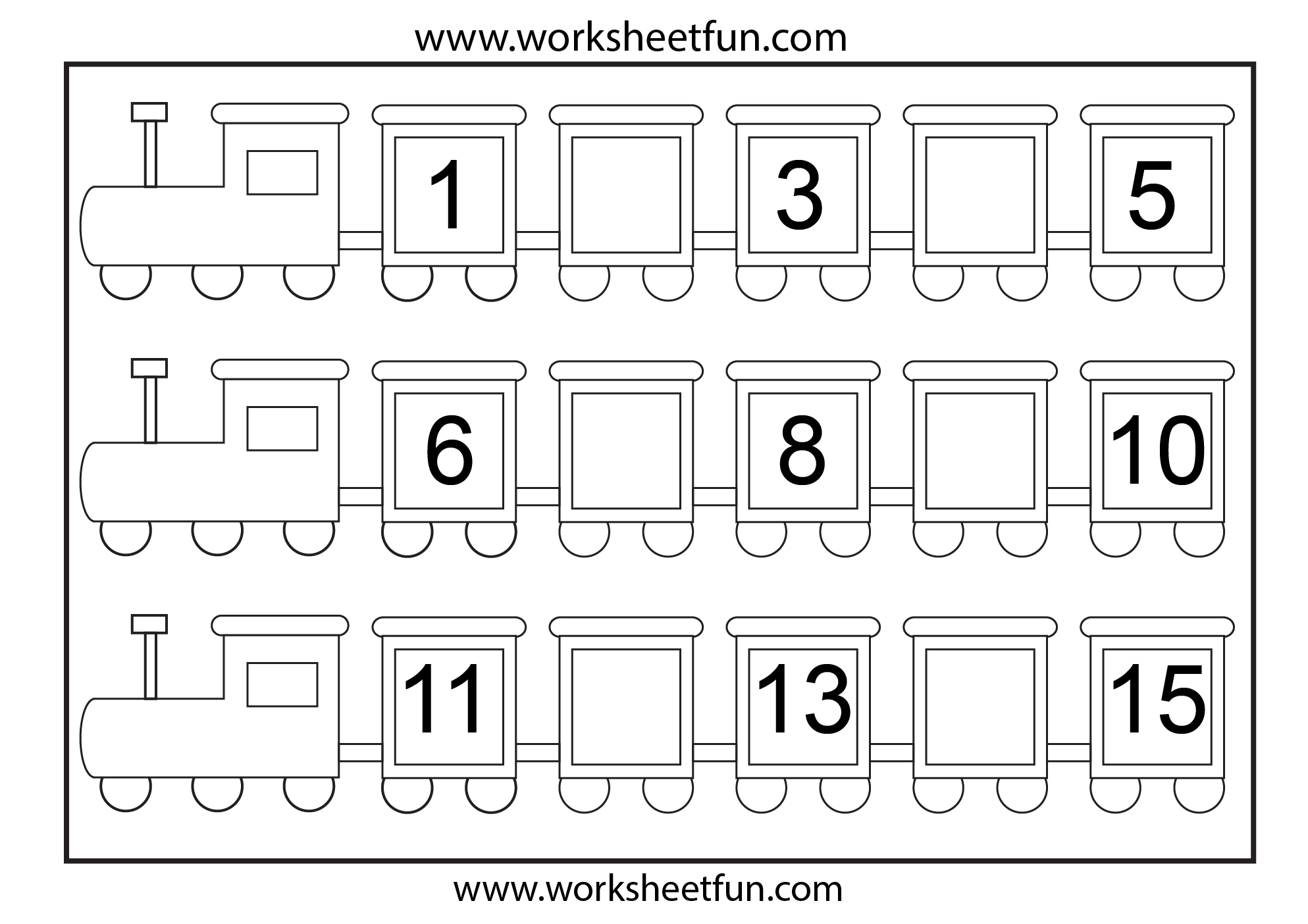 Kindergarten Worksheets Fill In Missing Numbers 692528