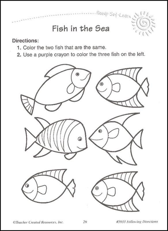 Kindergarten Worksheets On Following Directions 366711
