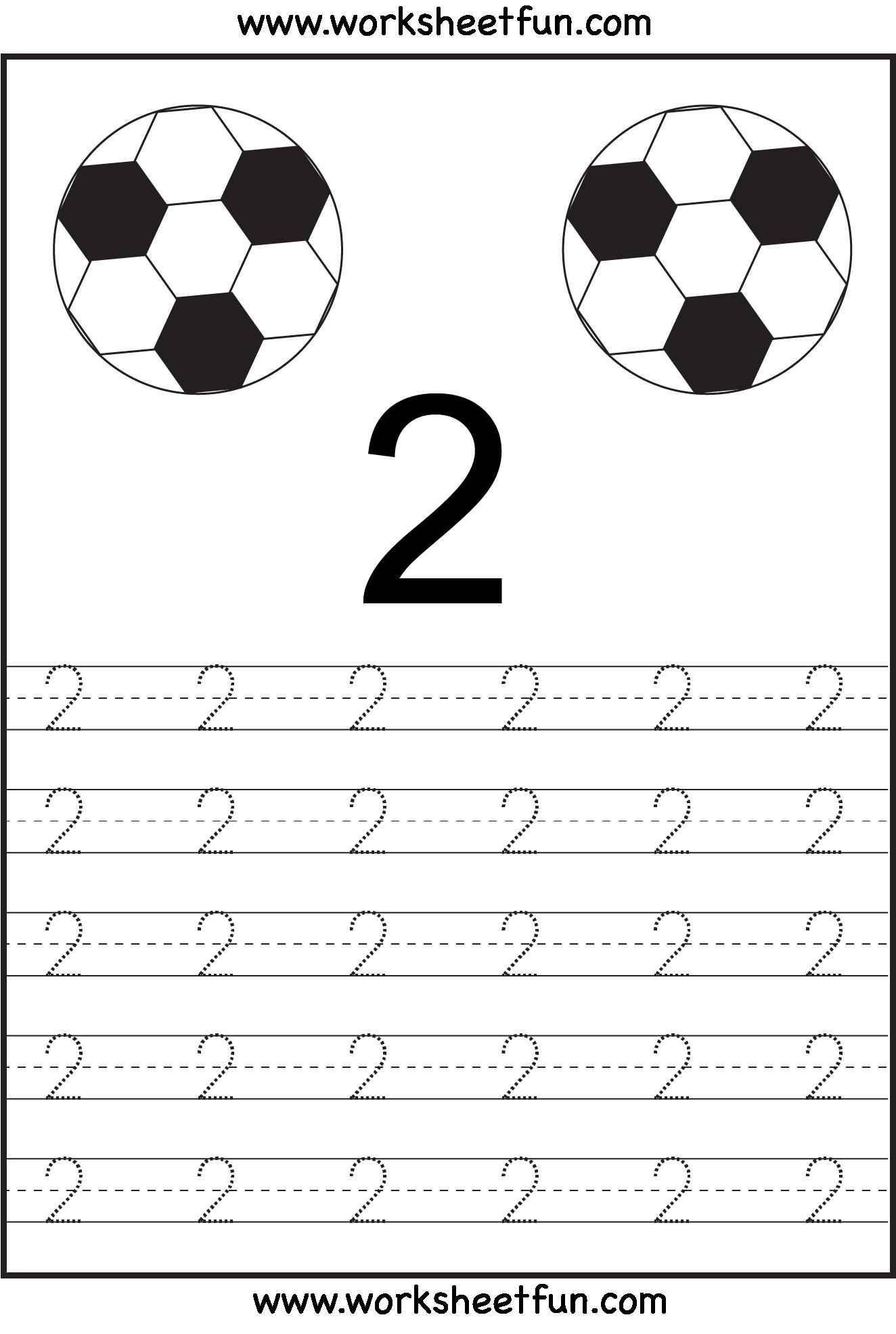 Kindergarten Worksheets Tracing Numbers 1 10 297542