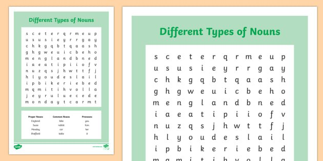 Kinds Of Nouns Worksheet The Best Worksheets Image Collection