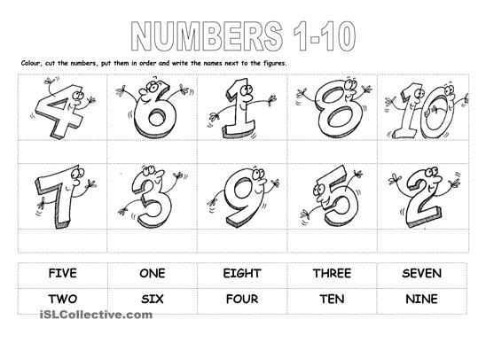 Learning Numbers Worksheets 1