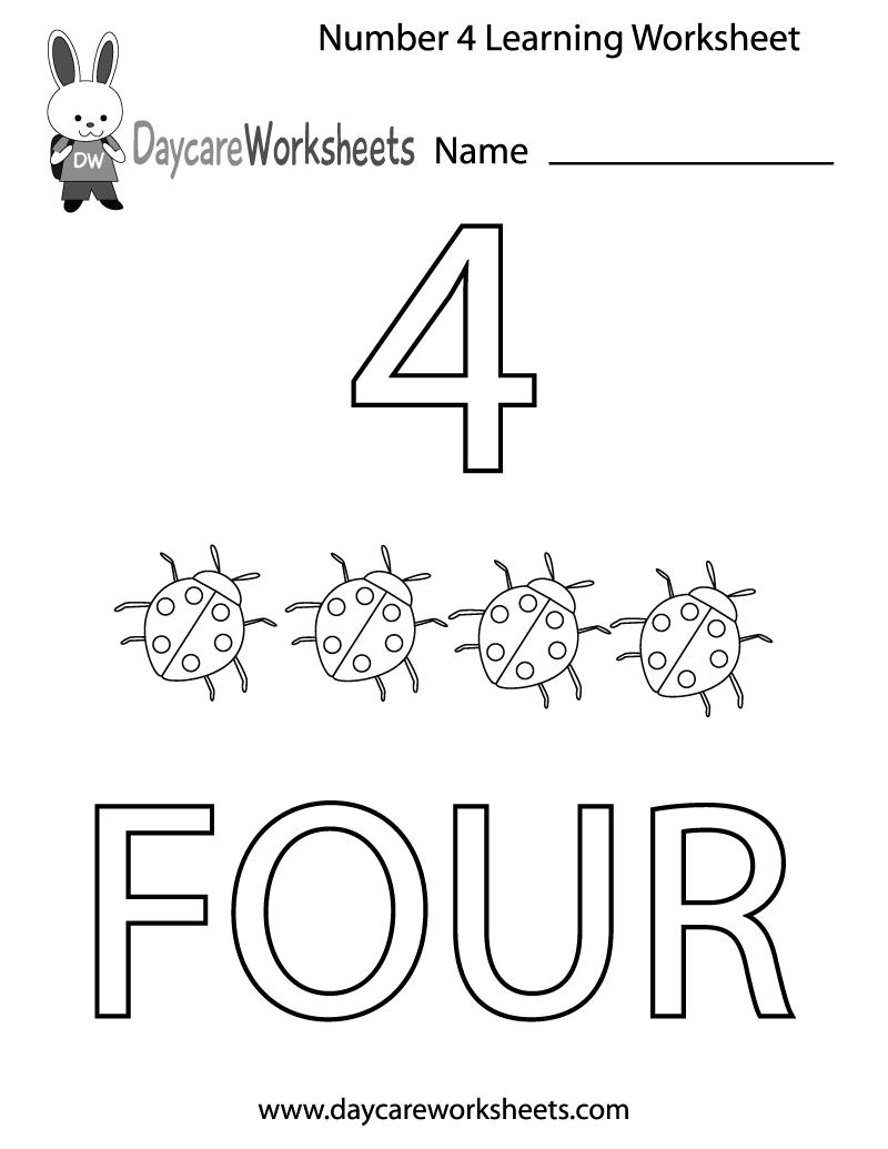 Learning Numbers Worksheets For Kindergarten 361645
