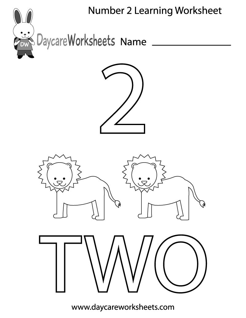 Learning Numbers Worksheets For Preschool 733484
