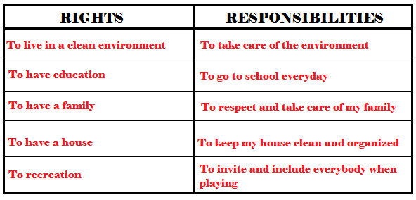 Legal Rights And Responsibilities Worksheet