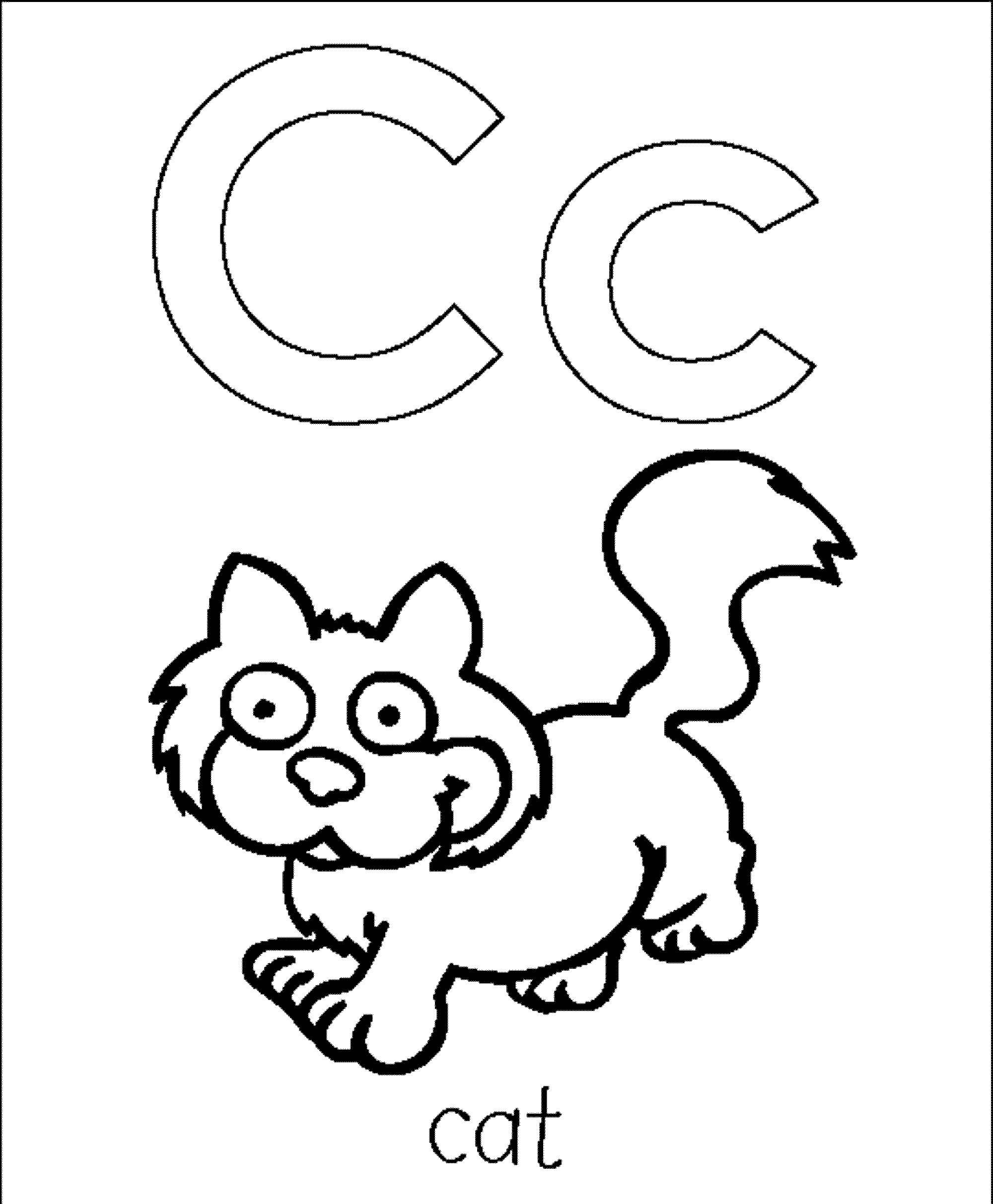 Letter C Coloring Pages 9  38010