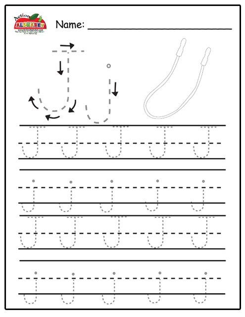 Letter J Tracing Worksheets Preschool 845787