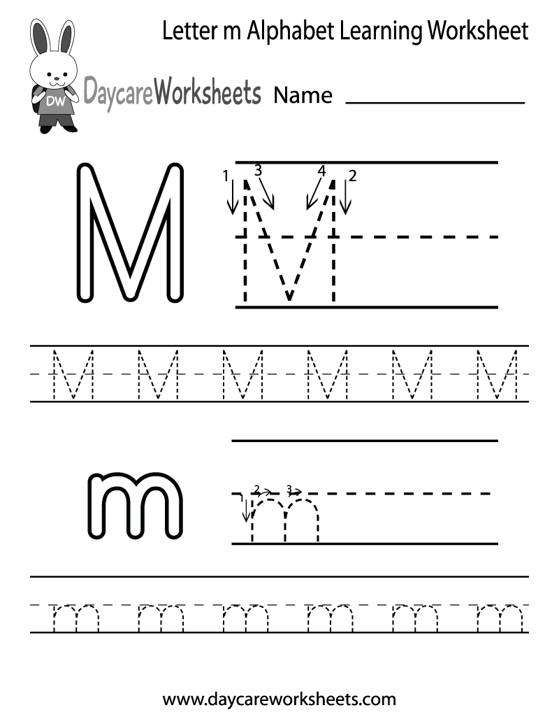 Letter M Worksheets For Kindergarten 484663