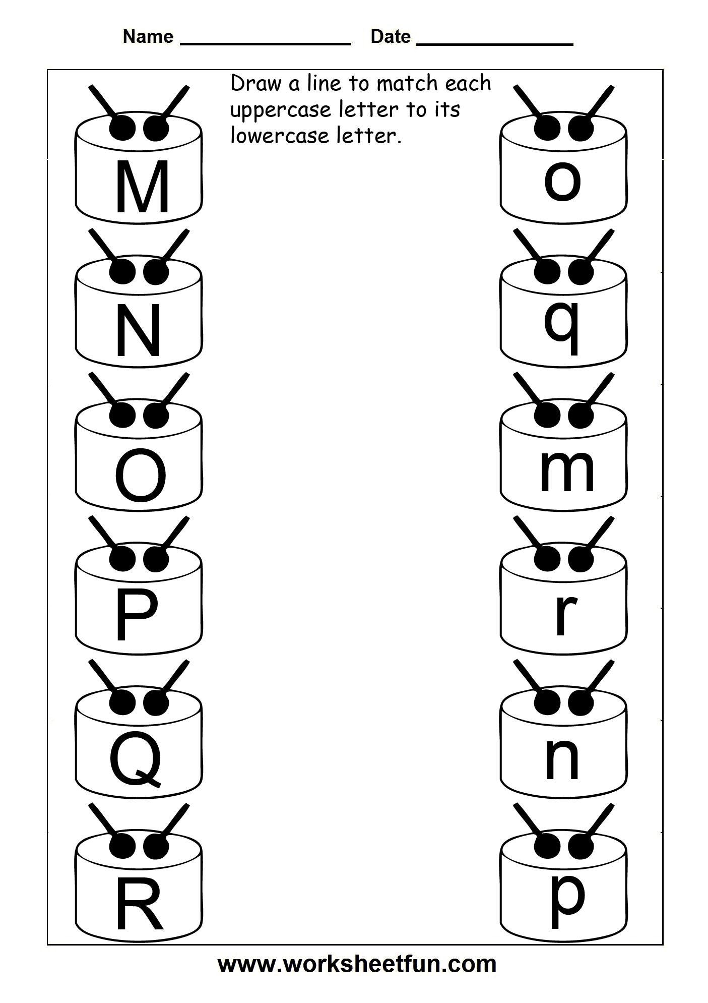 Letter Match Worksheets For Preschoolers 183838