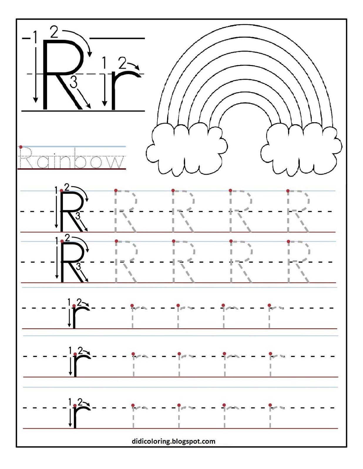 Letter R Printable Worksheets The Best Worksheets Image Collection