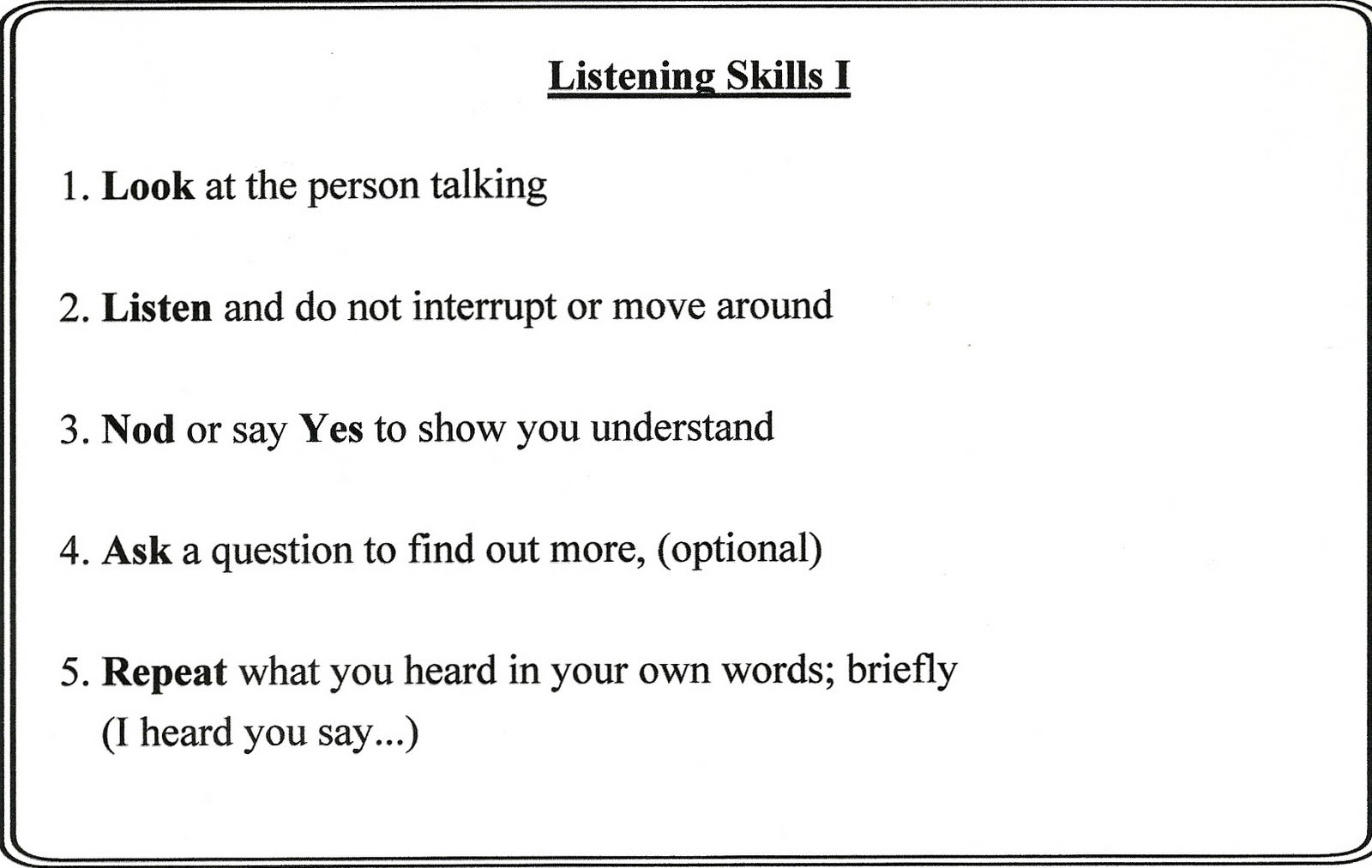 Listening Skills Worksheet The Best Worksheets Image Collection