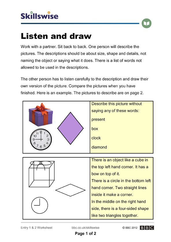 Listening Skills Worksheets Collection Of Solutions Listening