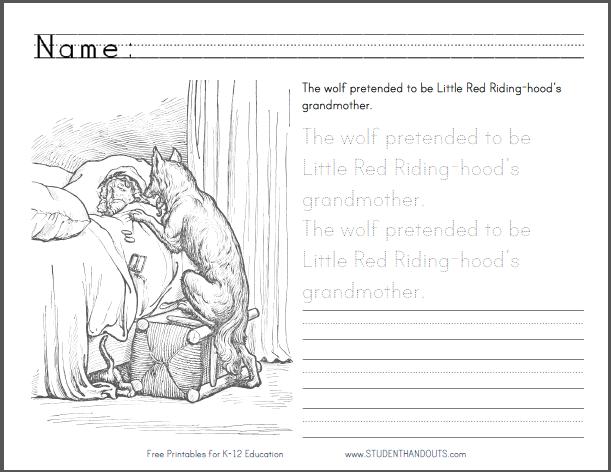 Little Red Riding Hood Printable Worksheets – Free Worksheets Samples