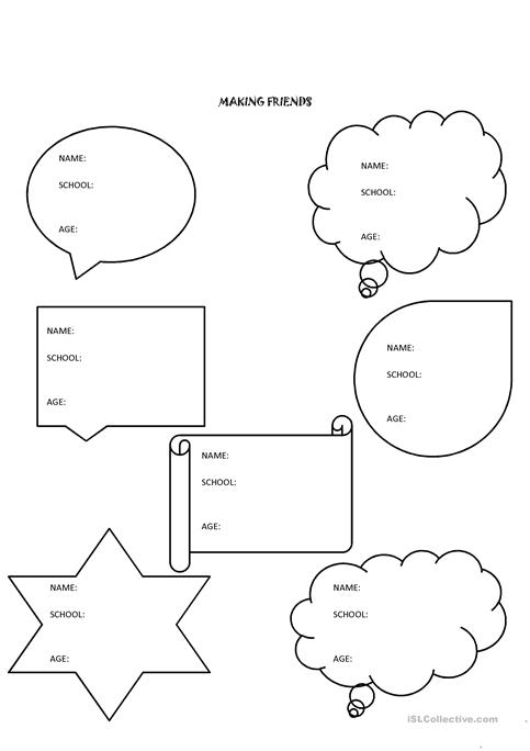 Making Friends Worksheet The Best Worksheets Image Collection