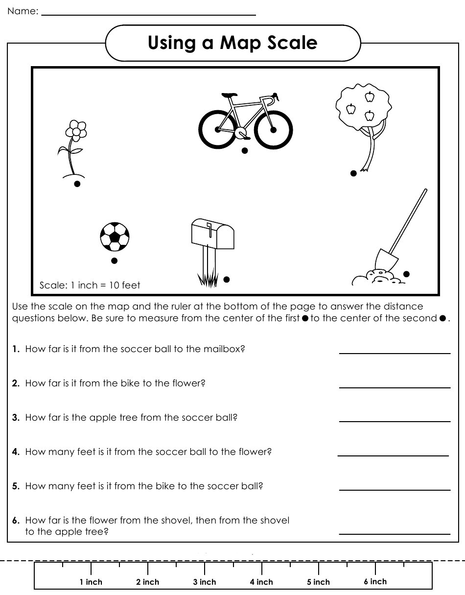 Map Scale Worksheet 3rd Grade The Best Worksheets Image Collection