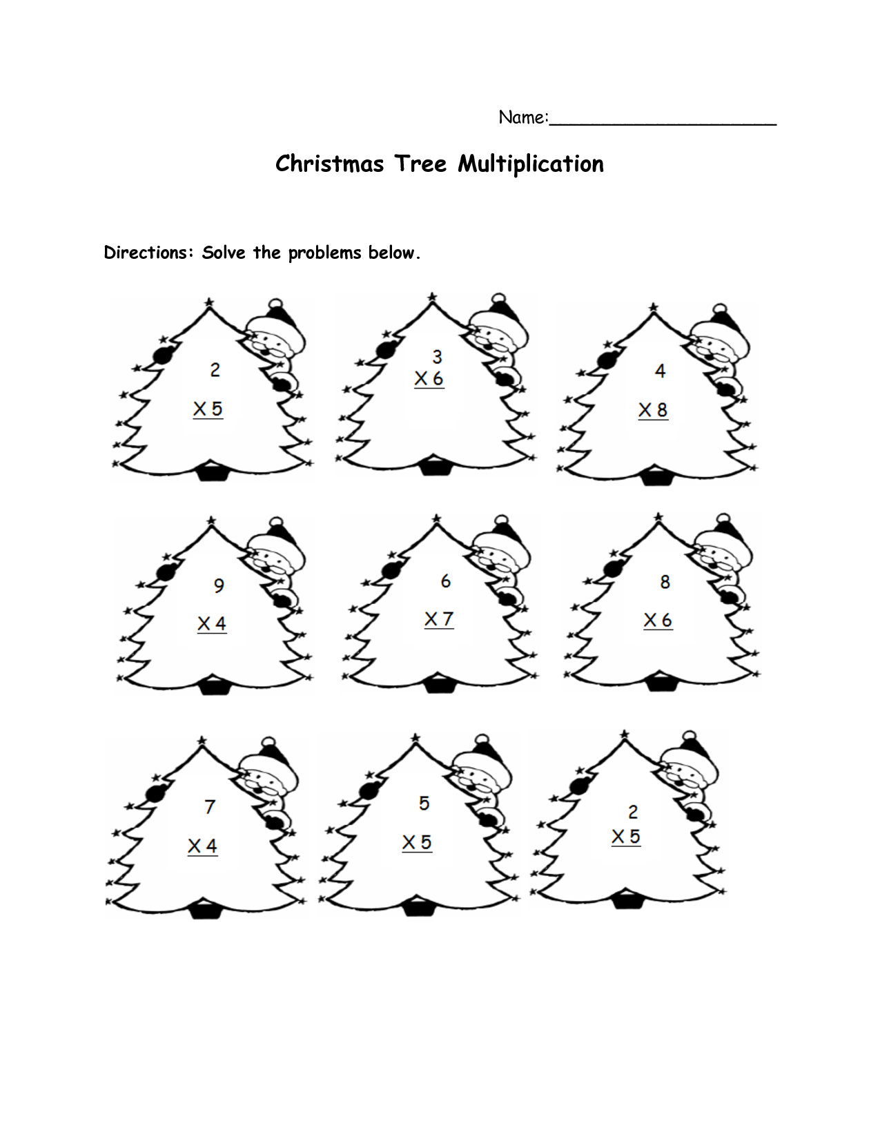 Math Christmas Worksheets 3rd Grade 1374170