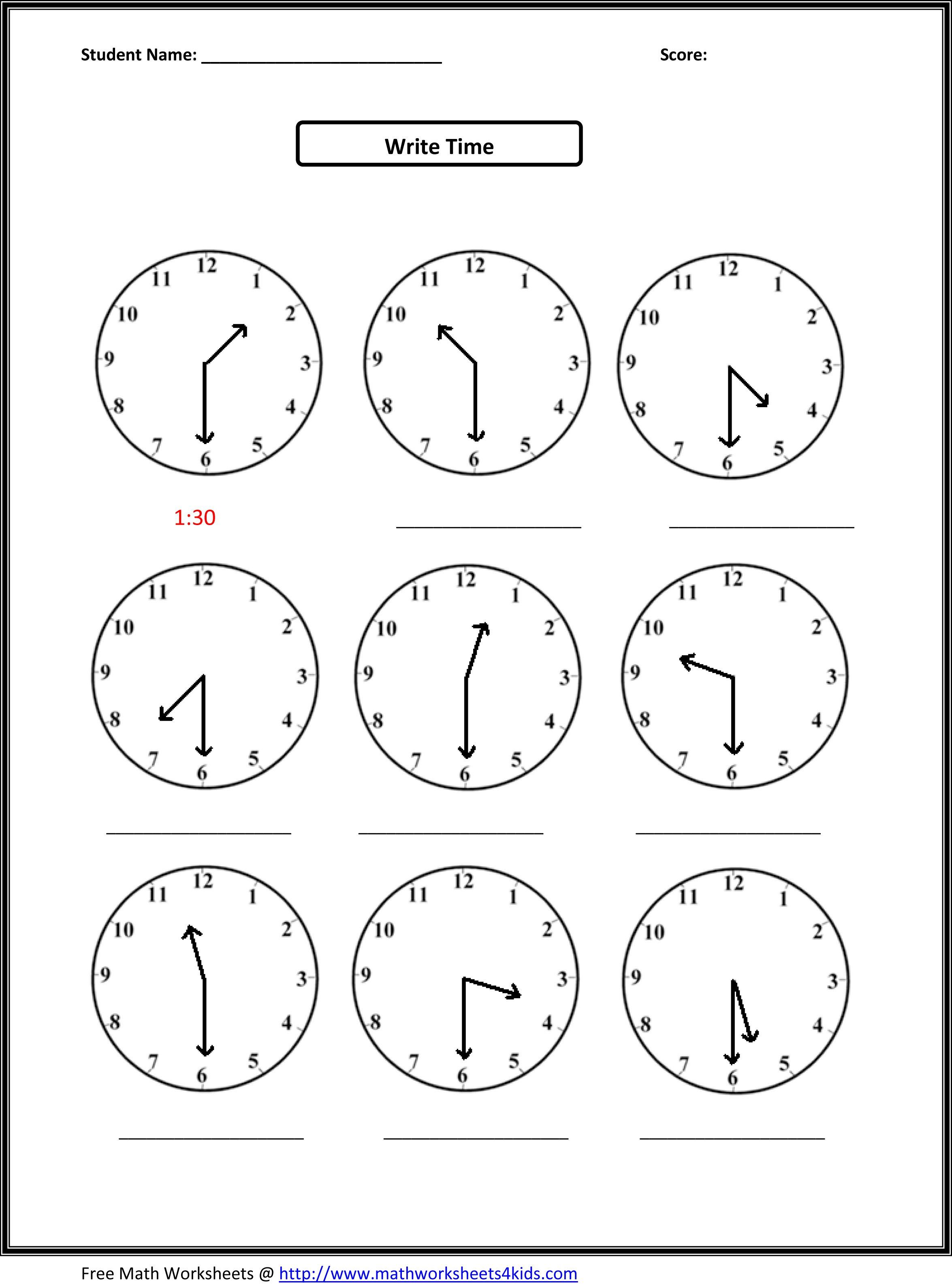 Math For Second Graders Printable Worksheets The Best Worksheets