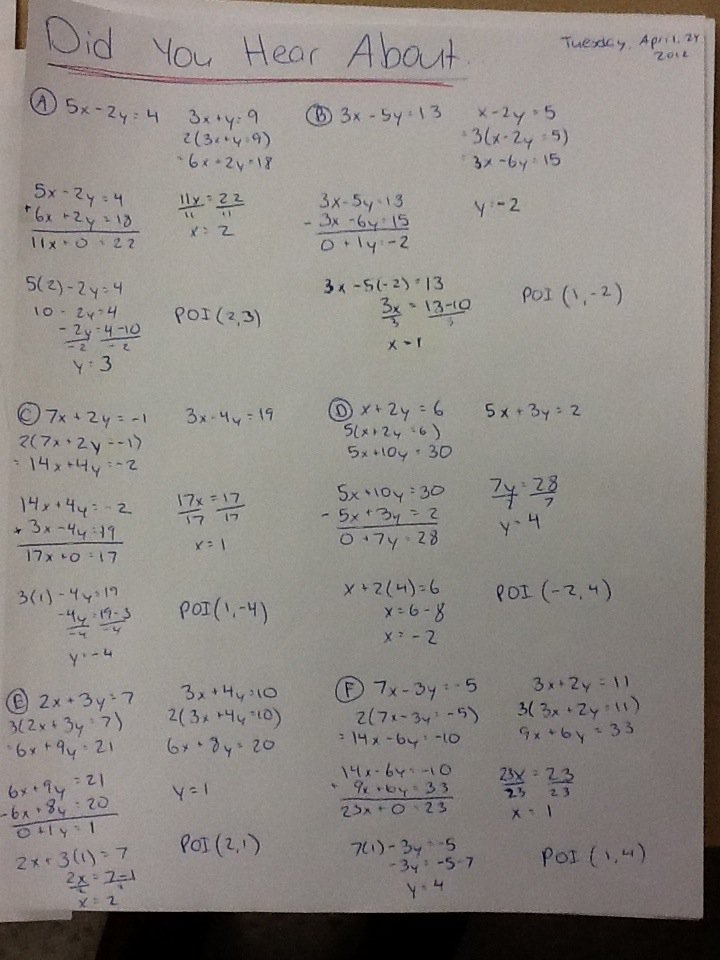 Math Worksheet Answer Did You Hear About 601542