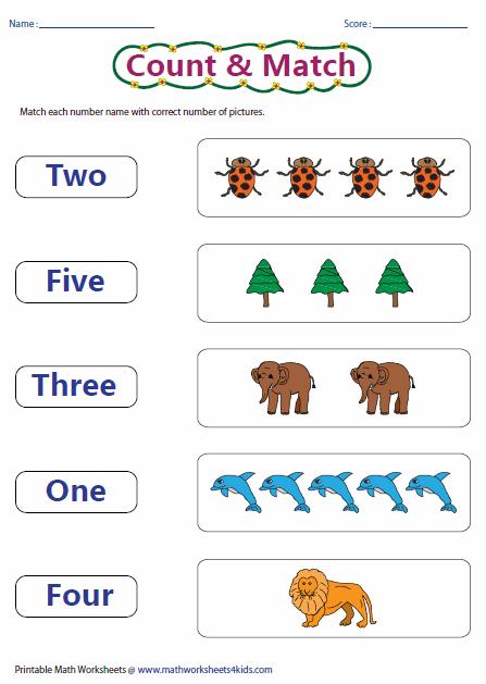 Math Worksheet On Number Names 728582