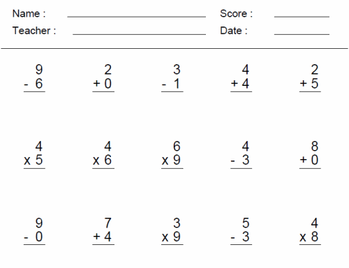 Math Worksheets For 3rd Grade