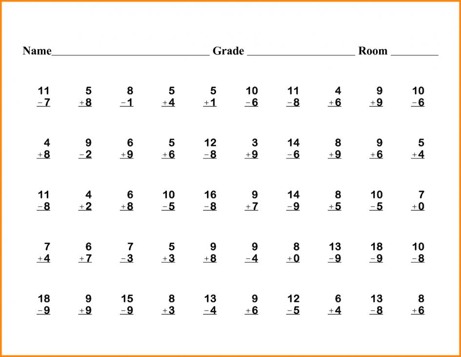 Math Worksheets Printable For 1st Grade 273075