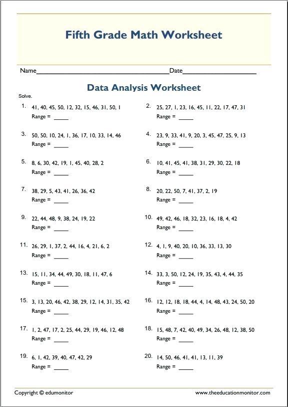 Mean Median Mode Range Worksheets Pdf Mean Median Mode Worksheets