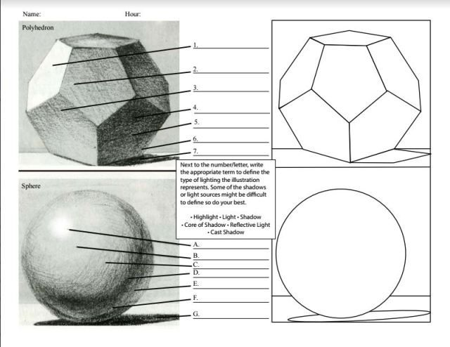 Middle School Art Worksheets 1123121